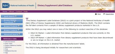 dsld database