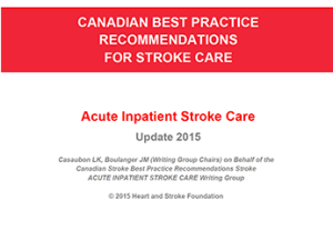 Canadian Stroke Best Practice Recommendations