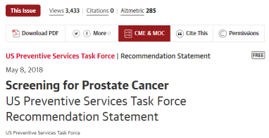 Guideline prostate cancer