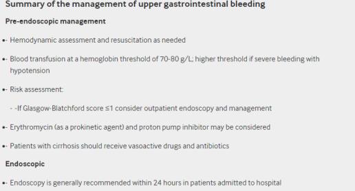 upper gastrointestinal bleeding