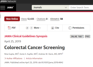 Colorectal Cancer Screening JAMA