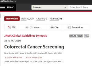 Colorectal Cancer Screening JAMA