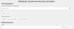 Metabolic Syndrome Severity Calculator